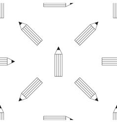 Pencil Icon Seamless Pattern vector image