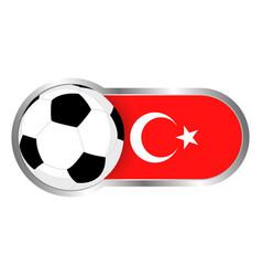 turkey soccer icon vector image vector image