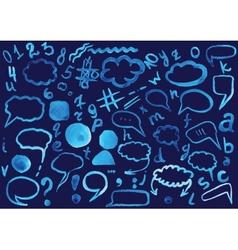 watercolor doodle vector image vector image