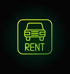 car rental green icon vector image vector image
