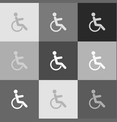 disabled sign grayscale vector image vector image