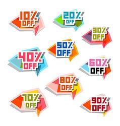 Discount Labels Set vector image vector image