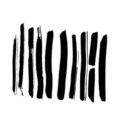 hand drawn line brush strokes vector image