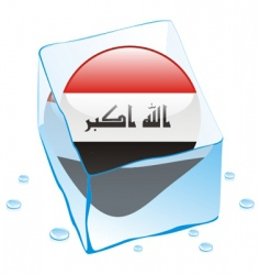 Iraq flag vector image vector image