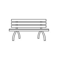 park bench icon vector image