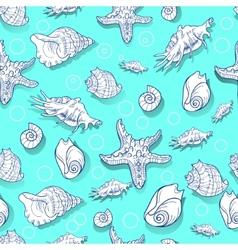 pattern seashell vector image