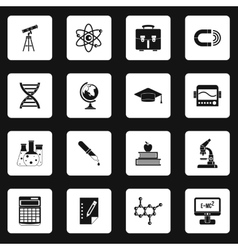 Science icons set simple style vector image vector image