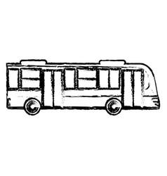 bus transport vehicle sketch vector image
