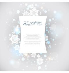 Christmas snow backdrop vector image