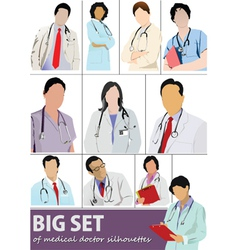 doctor set vector image vector image