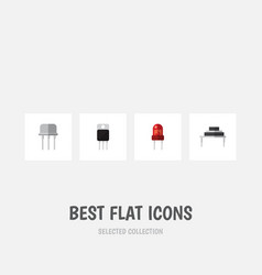 Flat icon technology set of resist receiver vector