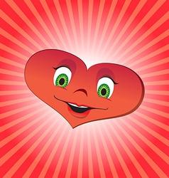 Heart girl character vector image vector image