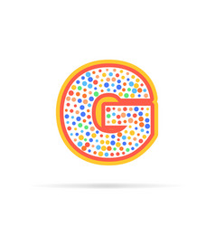 letter g with group of dots icon vector image vector image