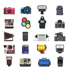 Photo studio icons set vector image