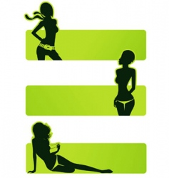 set girls vector image
