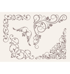 Set of corner ornaments vector image