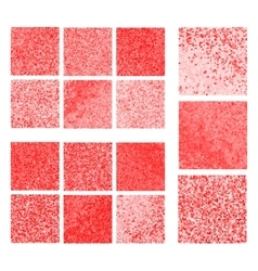 Abstract red background set vector image