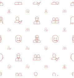 Avatar icons pattern seamless white background vector