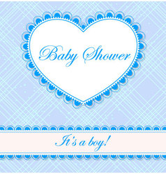 Baby-shower-cell-heart-banner-boy vector
