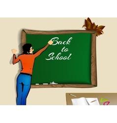 Back to school school teacher vector