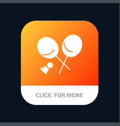 Badminton racket sports spring mobile app button vector