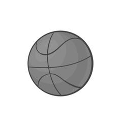 Basketball icon black monochrome style vector