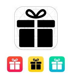 Big gift box icons on white background vector image