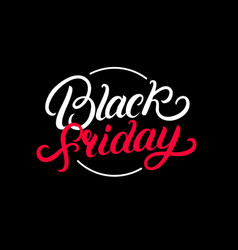 black friday hand written lettering text vector image