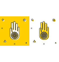 black symbol jainism or jain dharma icon vector image