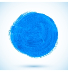Blue isolated acrylic painted circle vector