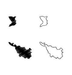 Bremen state map vector