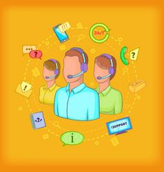 Call center concept cartoon style vector