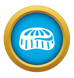 Candy jelly icon blue isolated vector
