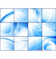 collection blue abstract backgrounds vector image