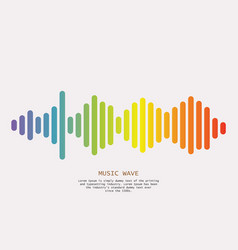 colorful sound waves background isolated design vector image
