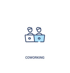 Coworking concept 2 colored icon simple line vector