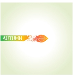Creative autumn design vector image