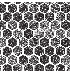 Dotwork Hexagon Pattern halftone Hexagon vector