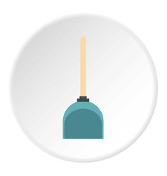 Dustpan icon circle vector