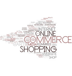 E-commerce word cloud concept vector