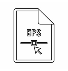 EPS file extension icon outline style vector