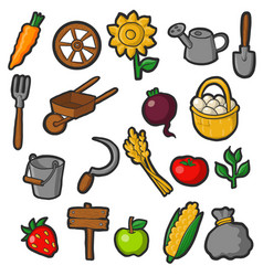 farming set vector image