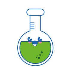 flask chemistry kawaii cartoon vector image