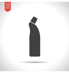 Flat cleaner bottle vector image