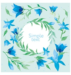 Floral background in pastel colors vector image