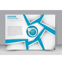 Flyer brochure magazine cover template design vector