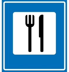 Food item road sign isolated on white background vector