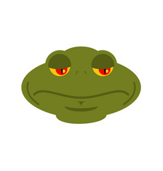 Frog sad emoji toad avatar sorrowful amphibious vector
