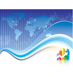 Global finance vector