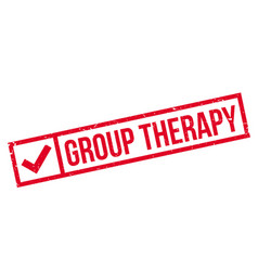 Group therapy rubber stamp vector